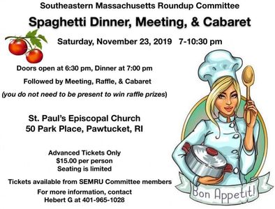 Spaghetti Dinner tickets available October 1st