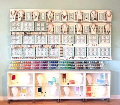DIY Jewelry Wall with CC3™Color Bar. Over 100 Jewelry styles to customize.