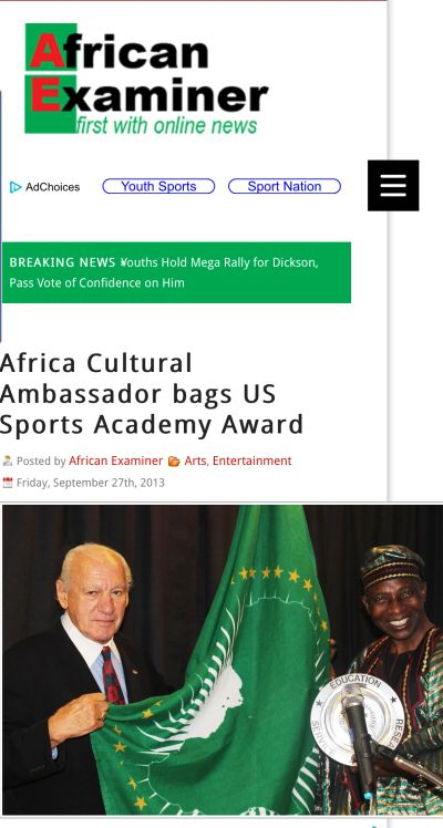 Africa Examiner Article
