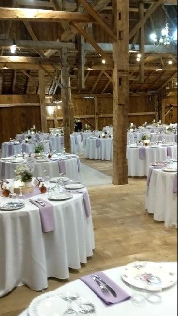 Tables and chairs for up to 200 people are included in your rental