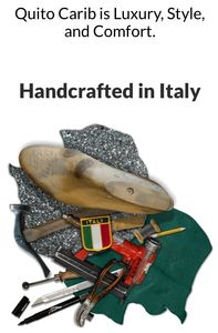 Quito Carib Italian hand crafted products are  100% Italian leather.