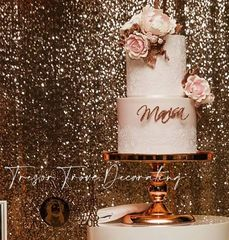 Rose gold mirror cake stand
