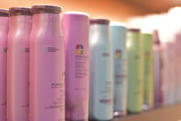 Pureology shampoo and conditioner, hairspray color fantic leave in conditioner