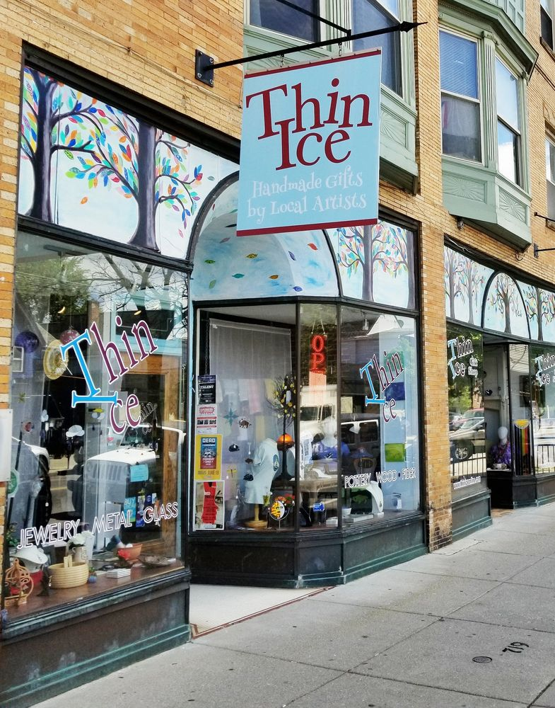 Thin Ice Gift shop sells unique, locally handcrafted, one of a kind gift items and souvenirs in WNY.