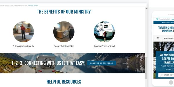 General Media Consulting - Website Development - Traveling Mercies RV Ministry - Jim Houchens