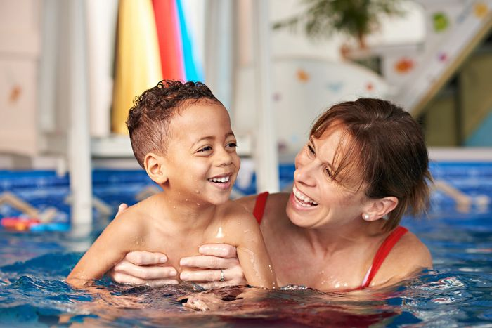 Swim for Life with Karina Renaud. Aquatic survival skills and swimming lessons for young children.