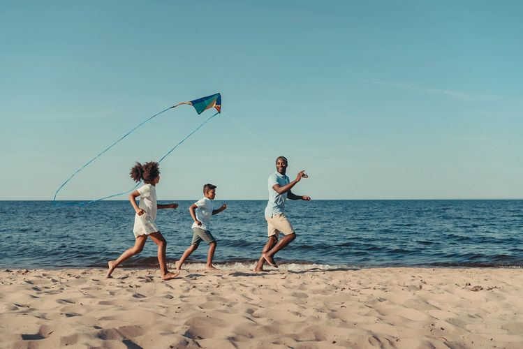 A day of kite flying, bike riding or fishing?