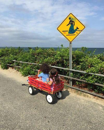 Watching out for mermaid crossings..