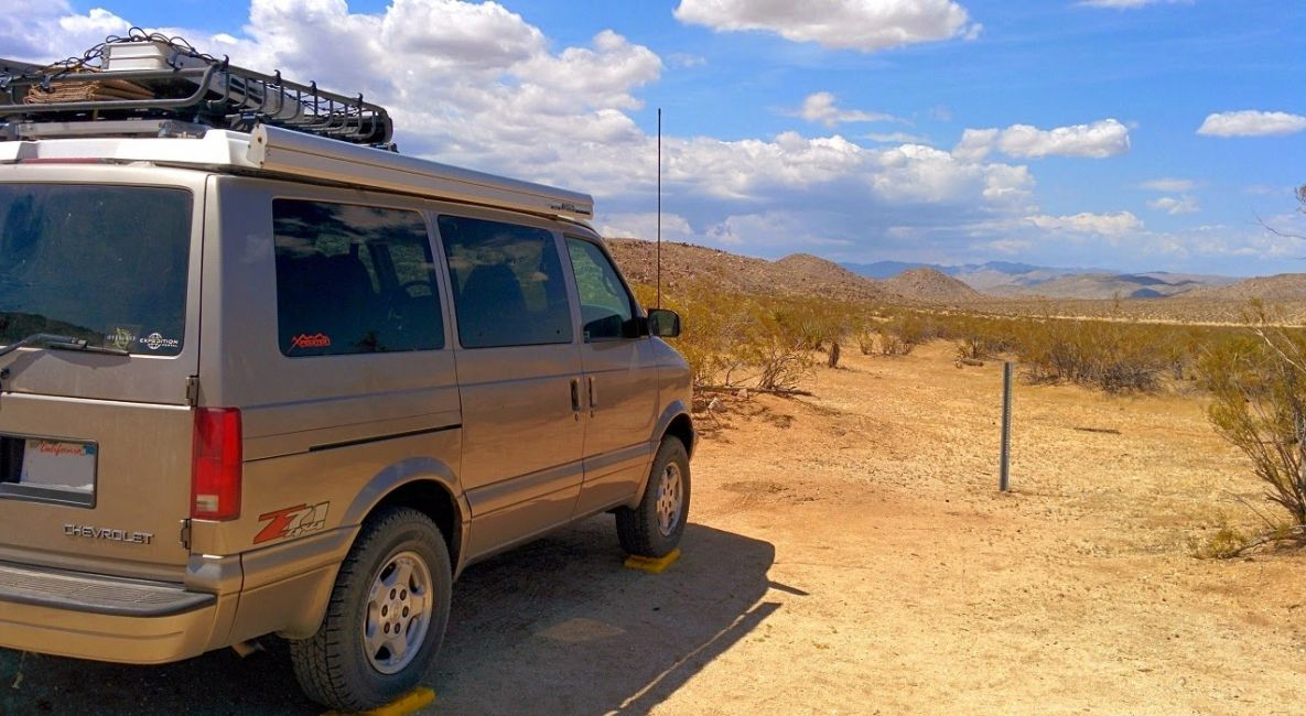 4x4 Chevrolet Astro van pop-top camper overland vehicle