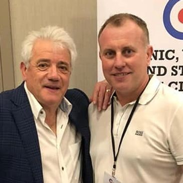 Kevin Keegan with Kevin Baker of Concept Events