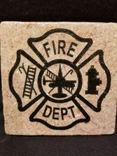 Marble, coasters, fire department