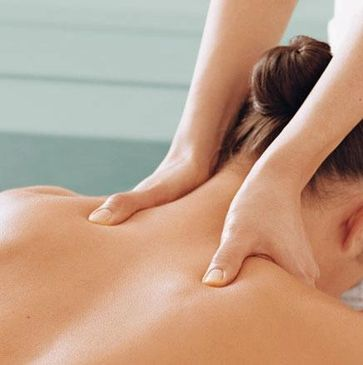 Woman getting shoulder massage. 90 minute massage 34652 prenatal, deep tissue, medical, clinical