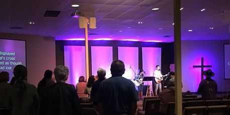 Sunday Worship Service in Folsom Church