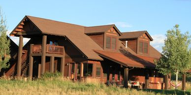 Exterior of a home in Eagle Ranch Colorado that we stained