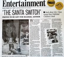 Article by Barb Randall about THE SANTA SWITCH, named 'Best Published Children's Book'.