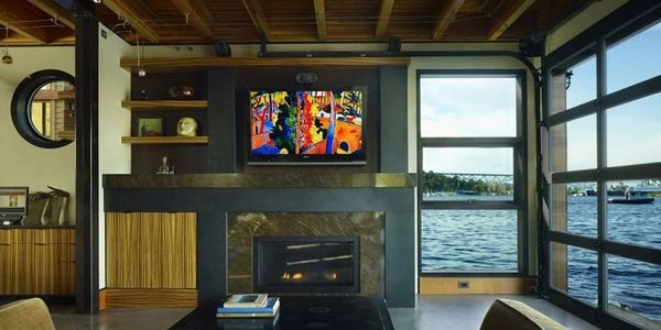 wall mount tv, fireplace tv, outdoor tv wall