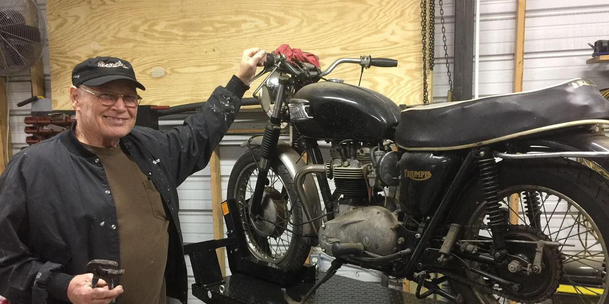 Jimmy Z and his Triumph