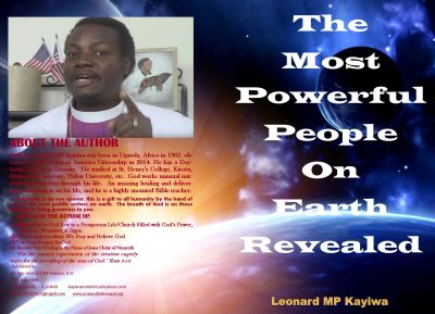 One of the books written by Bishop Leonard Kayiwa, a born again, Spirit-filled believer, who has written various books about very important subjects in a very profound way.  Books you read and you do not want to put down.