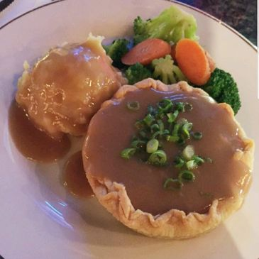 The chicken pot pies are amazing - I tried the beef short rib pie today and was delicious.