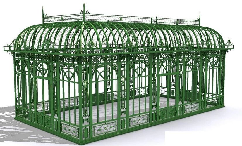 Wrought Iron Green Conservatory