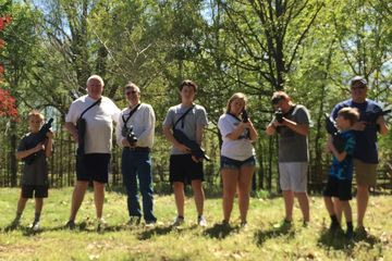 Family laser tag 2016, again.  The adults could not help themselves.
