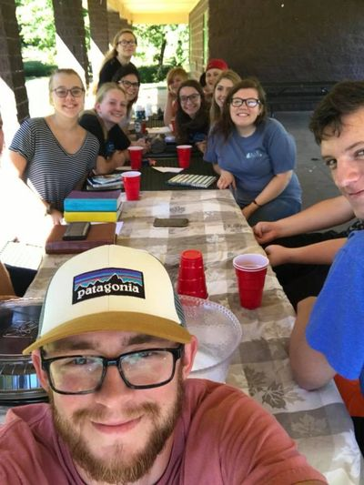 Austin with some of overcome youth at our Saturday bible study