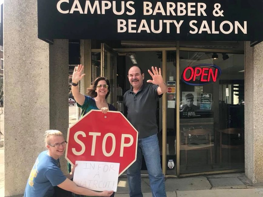 Stop in for a haircut at Campus Barber and Beauty Salon! Our newly renovated salon is waiting.