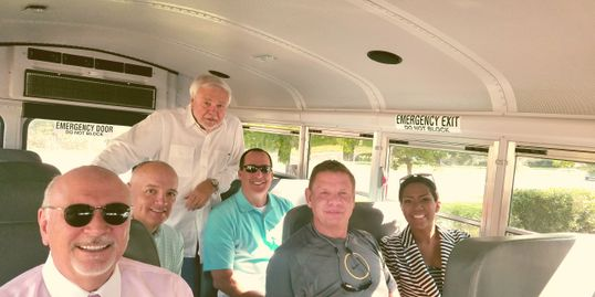 South Charlotte Partners Board Members on a road trip for road improvements.