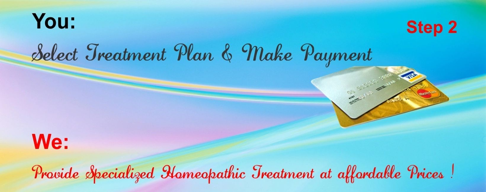 You Select Treatment Plan and we Provide Specialized  Homeopathic Treatment at affordable prices.