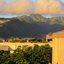 I took this photo from the lanai of an old friend's apartment at the foot of Diamond Head, Honolulu.