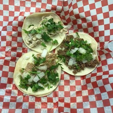 We make !00% Authentic Mexican Street Tacos as well as Burritos, Enchiladas, Torta and much more