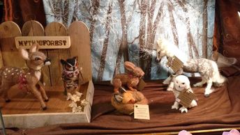 Hand Made Felted Animals by Martha Haskins - local Vermont Artisan