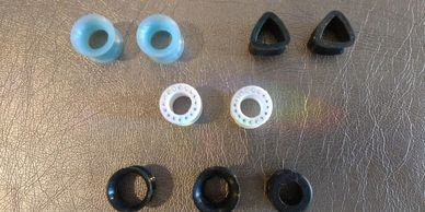 Soft, Flexible Silicone Flesh Tunnels