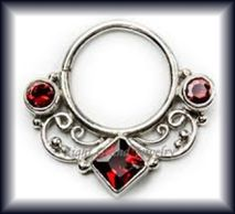 Fabulous collection of 16 gauge septum jewelry