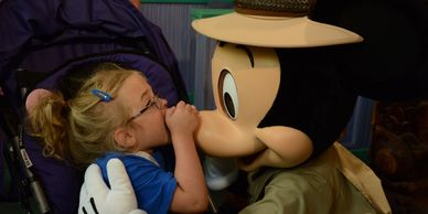 Mickey biting Mickey Mouse's nose Sanfilippo Syndrome Make a Wish