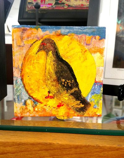 mini art canvases by Sharon Pontier. $75 each.
