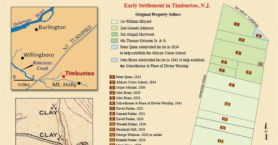 Early Settlement Map of Timbuctoo