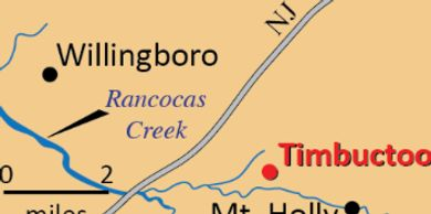 Timbuctoo Map includes Timbuctoo  Cemetery