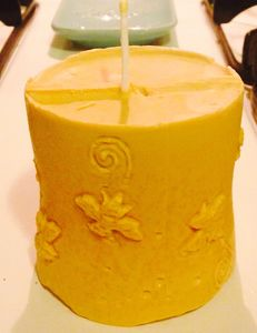 Bakersfield beeswax candle