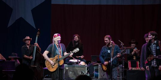 Jamming with Willie and The Family Band