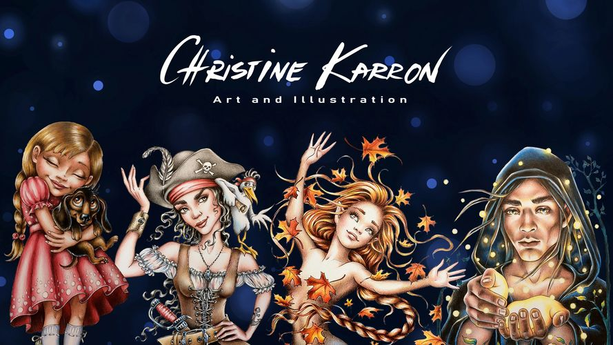 Christine Karron Art and illustration, original whimsical artwork, books, colouring pages, prints