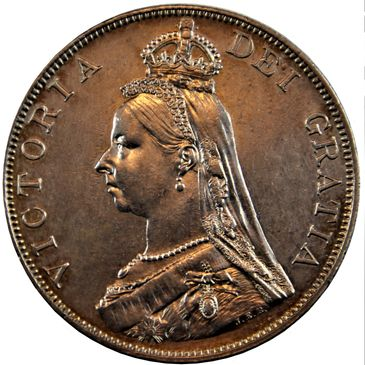 Victoria (1837-1901), silver Double-Florin of Four Shillings, 1889, Arabic 1 in date, crowned