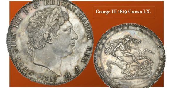 George III Crown coin collecting LIX year 1819 numismatic
