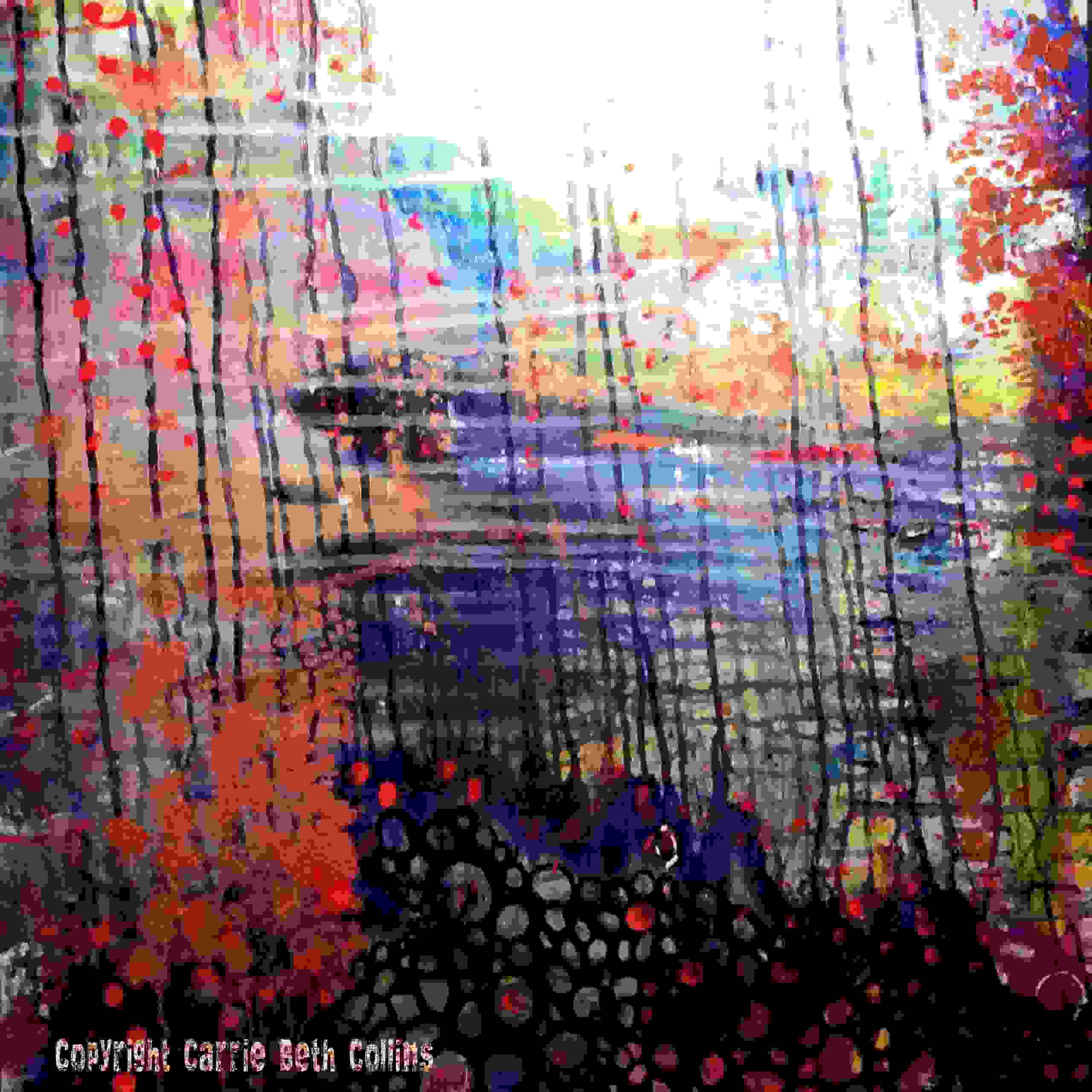 Abstract Art, River, Water, dream, Contemporary painting, Abstract painting, Carrie Beth Collins