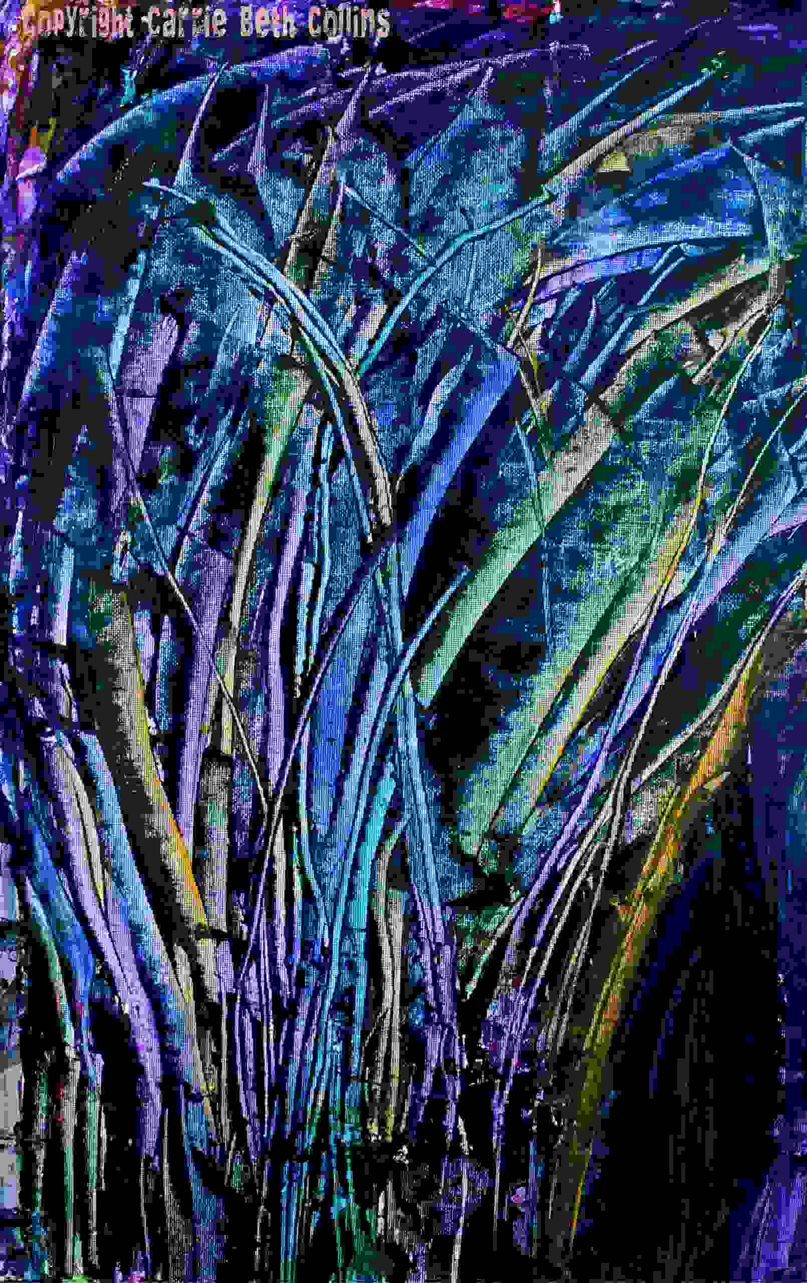 Abstract trees, nature art, abstract, painting, Carrie Beth Collins, contemporary art, artist