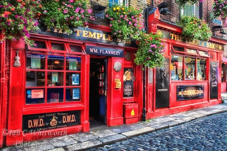 The famous Temple Bar in Dublin Ireland