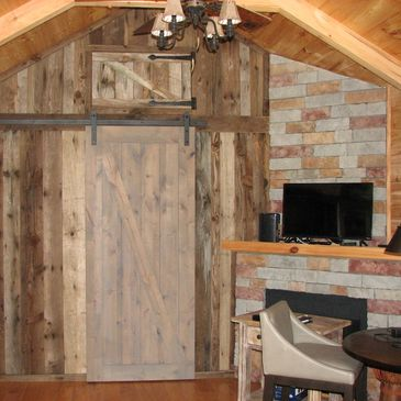 remodel barn wood rustic accent wall reclaimed wood sliding carriage door barn wood door mantle beam