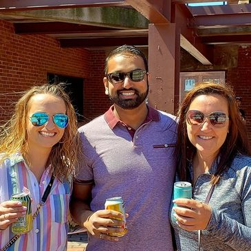 Navy Yard Wine Beer Garden All-ages family friendly gathering Boston Harbor Views Near Freedom Trail