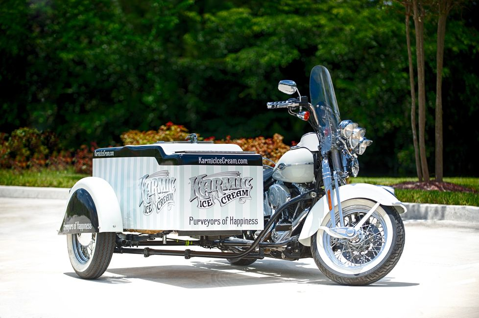 Karmic Ice Cream's Harley Ice Cream Motorcycle rental in South Florida