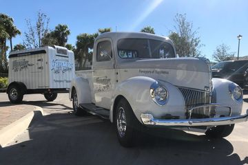 1940 Ford Pickup with Ice Cream Freezer trailer